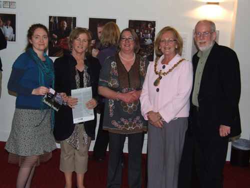 At Exhibition Launch Catherine Fanning, Maura Gilligan, Mary McDonagh, Mayor Rosaleen O'Grady and Photographer James Fraher