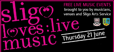 Sligo loves live music logo banner